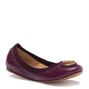 Tory Burch Caroline 2 Nappa Leather Ballet Flats